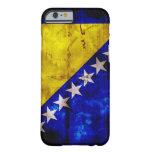 Bandera resistida de Bosnia Funda De iPhone 6 Slim