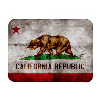 Bandera resistida de California Imanes De Vinilo