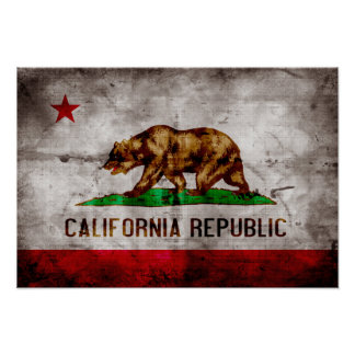 Bandera resistida de California Impresiones