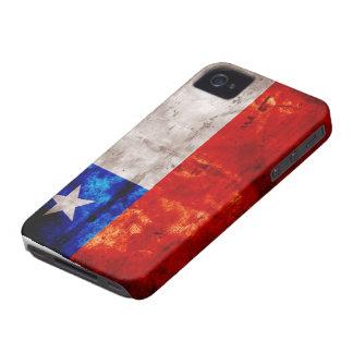 Bandera resistida de Chile iPhone 4 Case-Mate Protector