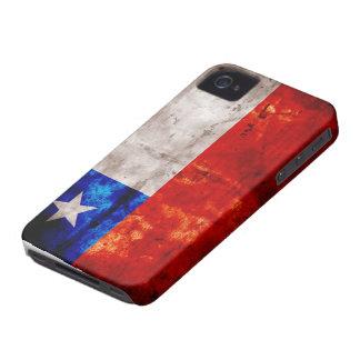 Bandera resistida de Chile iPhone 4 Case-Mate Fundas