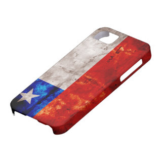 Bandera resistida de Chile iPhone 5 Carcasa