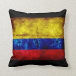 Bandera resistida de Colombia Cojines