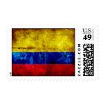 Bandera resistida de Colombia Timbres Postales