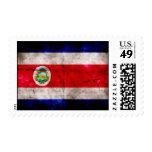 Bandera resistida de Costa Rica Timbres Postales