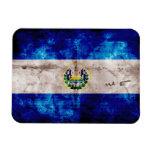 Bandera resistida de El Salvador Imanes Rectangulares