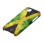 Bandera resistida de Jamaica iPhone 5 Case-Mate Carcasa