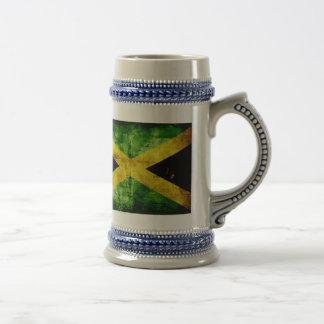 Bandera resistida de Jamaica Taza De Café