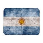 Bandera resistida de la Argentina Imanes Rectangulares