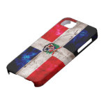 Bandera resistida de la República Dominicana iPhone 5 Case-Mate Funda