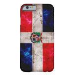 Bandera resistida de la República Dominicana Funda De iPhone 6 Barely There