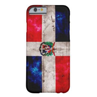 Bandera resistida de la República Dominicana Funda De iPhone 6 Slim