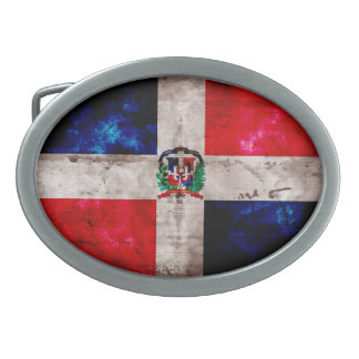 Bandera resistida de la República Dominicana Hebilla Cinturon