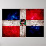 Bandera resistida de la República Dominicana Póster