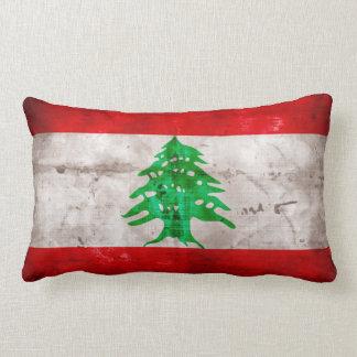 Bandera resistida de Líbano Cojín Lumbar