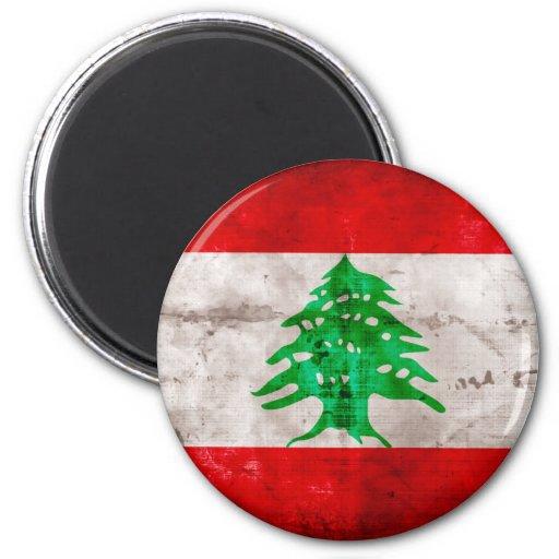 Bandera resistida de Líbano Imán Redondo 5 Cm