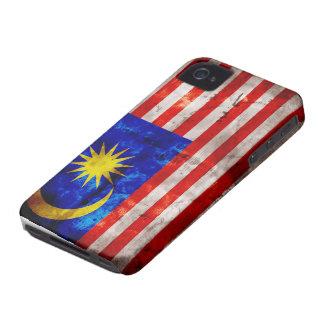 Bandera resistida de Malasia iPhone 4 Case-Mate Fundas