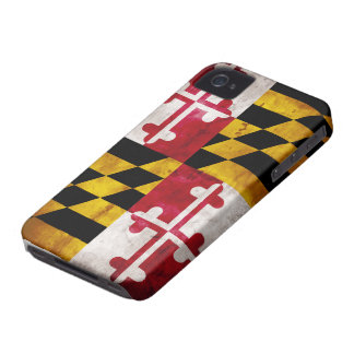 Bandera resistida de Maryland iPhone 4 Carcasa