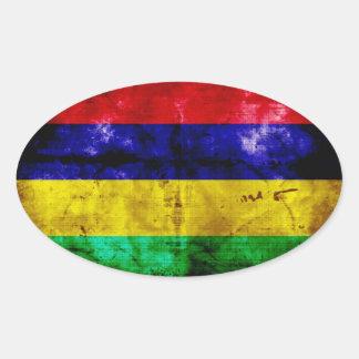 Bandera resistida de Mauricio Pegatina Ovalada