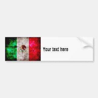 Bandera resistida de México del vintage Pegatina Para Auto