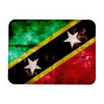 Bandera resistida de Nevis Iman De Vinilo