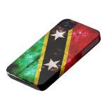 Bandera resistida de Nevis iPhone 4 Cobertura