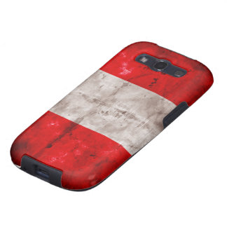 Bandera resistida de Perú Galaxy S3 Protector