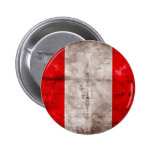 Bandera resistida de Perú Pin Redondo 5 Cm