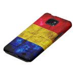 Bandera resistida de Rumania Galaxy S2 Fundas