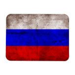 Bandera resistida de Rusia Imán Rectangular