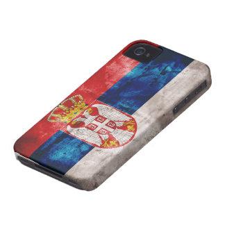 Bandera resistida de Serbia Case-Mate iPhone 4 Cobertura