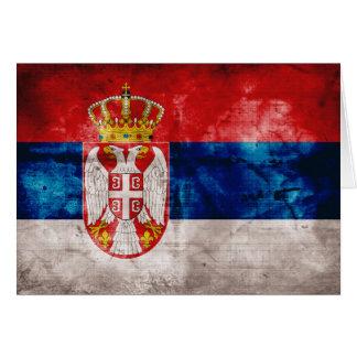 Bandera resistida de Serbia Tarjeta Pequeña