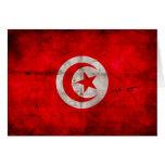 Bandera resistida de Túnez Tarjetón