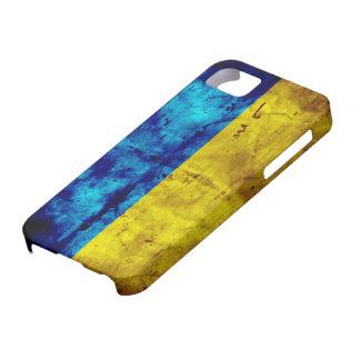 Bandera resistida de Ucrania iPhone 5 Protectores