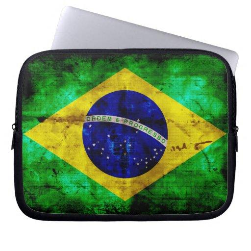 Bandera resistida del Brasil Manga Portátil