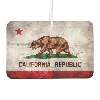 Bandera resistida del estado de California del