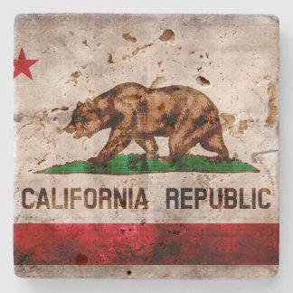 Bandera resistida del estado de California del Posavasos De Piedra