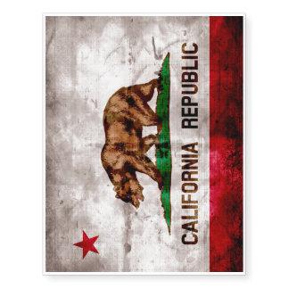 Bandera resistida del estado de California del Tatuajes Temporales