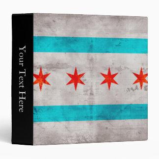 """Bandera resistida del estado de Chicago del Carpeta 1 1/2"""""""
