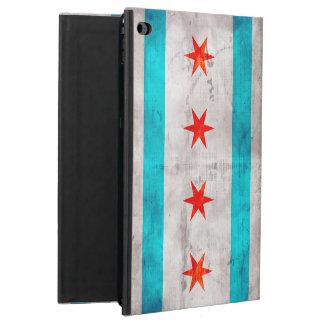 Bandera resistida del estado de Chicago del