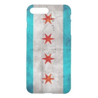 Bandera resistida del estado de Chicago del Fundas Para iPhone 7 Plus