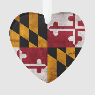 Bandera resistida del estado de Maryland del