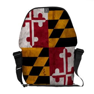Bandera resistida del estado de Maryland del Bolsa Messenger