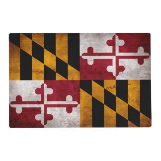 Bandera resistida del estado de Maryland del Salvamanteles