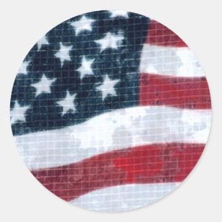 Bandera resistida pegatina redonda