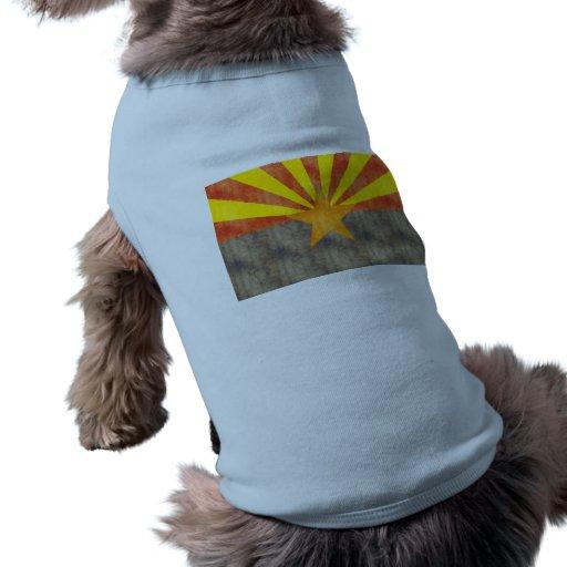 Bandera retra de Arizona del vintage Playera Sin Mangas Para Perro