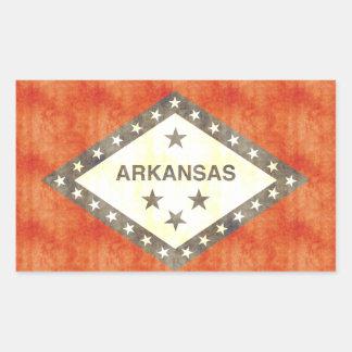Bandera retra de Arkansas del vintage Pegatina