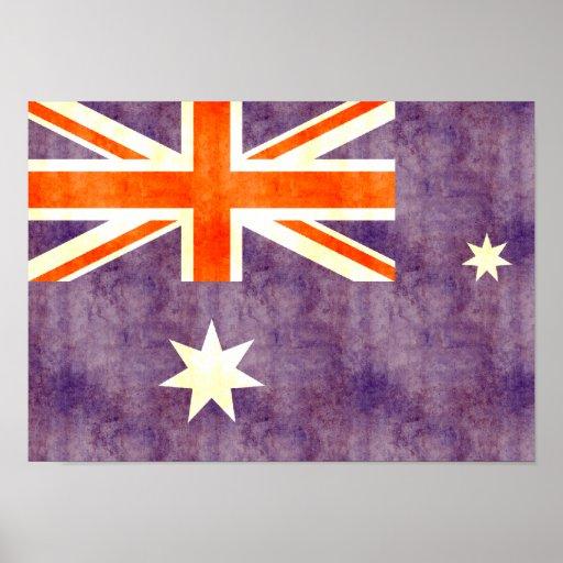 Bandera retra de Australia del vintage Poster