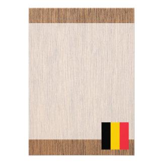 """Bandera retra de Bélgica Invitación 5"""" X 7"""""""