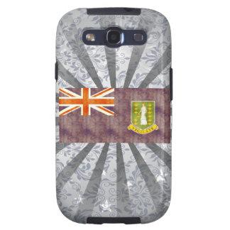 Bandera retra de British Virgin Islands del Galaxy S3 Funda